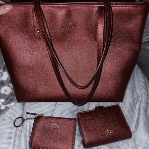 Metallic Cherry Coach Set